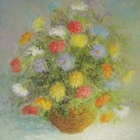 Šareno poljsko cvijeće, 1979., ulje na platnu, 81x65 cm