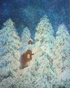 Badnja noć, 2004., ulje na platnu, 100x80 cm