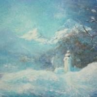 Božićno vrijeme, 1990., ulje na platnu, 65x81 cm