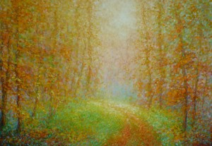 I opet jesen prosu svoje boje, 2002., ulje na platnu, 70x100