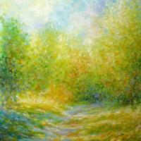 Kalnički put, 1991., ulje na platnu, 81x65 cm