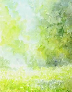 Lipanjsko jutro, 1988., akvarel na papiru, 40x30 cm