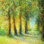 Prigorski krajolik, 1994., ulje na platnu, 81x65 cm