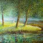 Sanjarenje, 1996., ulje na platnu, 65x85 cm