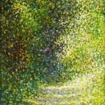 Sjaj u šumi, 1989., ulje na platnu, 33x27 cm