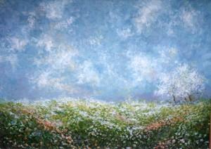 Svibanjski cvjetni tepih, 1982., ulje na platnu, 65x81 cm