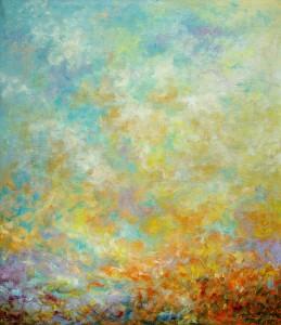 Tamo gdje nebo sa zemljom se spaja..., 1992., ulje na platnu