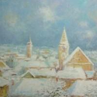 Varaždinski vidici XLVI, 1985., ulje na platnu, 62x70  cm