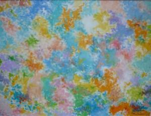 Vesele proljetne krpice, 2002., ulje na platnu, 60x80 cm