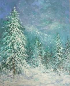 Visoko u planinama, 1990., ulje na platnu, 81x65 cm