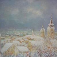 Zima u Varaždinu, 1983., ulje na platnu, 65x81 cm