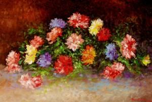 Klinčići, 1987., ulje na platnu, 53x80 cm