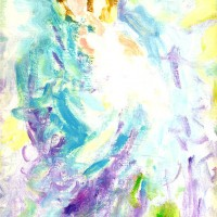 Ljubav, 1991., ulje na papiru, 30x20 cm