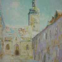 Prema crkvi sv. Marka, 1985., ulje na platnu, 81x65 cm