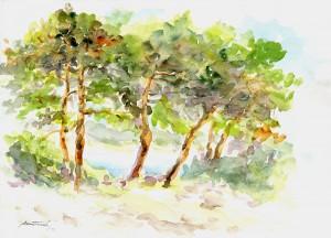 Rujan na Rabu, 1997., akvarel na papiru, 30x40 cm